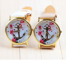 Fashion Leather Anchor GENEVA Watch For Women Dress Watch Quartz Watch Worth