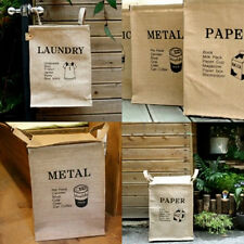 New Linen Laundry Hamper Bag Washing Basket Clothes Collection Space Saver
