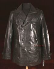Anthony Black Men's Gent's Smart Double Breasted Real Sheep Nappa Leather Jacket