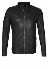 New Men Motorcycle Black Lambskin Leather Jacket Coat Size XS S M L XL MJ580