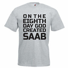 SAAB Inspired 8th day t-shirt classic cars unisex kids sizes to 5 XL