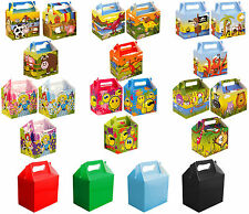 Party Food Lunch Boxes Childrens Gift Bags Loot Themed Coloured Birthday Kids