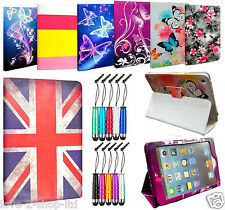 ✓UK STOCK LUXURY PRINTED LEATHER FLIP STAND CASE COVER FOR APPLE SAMSUNG TABLETS