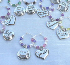 Wedding Table Decorations Clear Champagne  Wine Glass Charms Favours - DIY