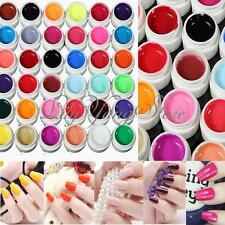 12/36Pcs Solid Pure Glitter Mix Color Gel Acrylic Set UV Builder Nail Art Decor