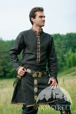 Medieval Clothing , Natural flax linen medieval fantasy garb tunic