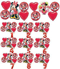MINNIE MOUSE BIRTHDAY PARTY BALLOONS BOUQUET SUPPLIES DECORATIONS MAD ABOUT ME