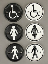 TOILET DOOR SIGNS GENTS MENS LADIES WOMENS DISABLED OLD ANTIQUE CAST IRON STYLE
