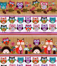 Woodland Critters Foxes, Owls, & Hedgehogs Cotton Fabric Collection by SPX!