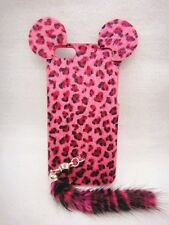 3D Leopard Animal Fur Tige Tail Case Cover Skin For cell MOBILE PHONES 4