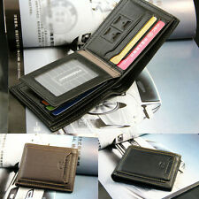 New Men's Leather Bifold ID Credit Card Holder Wallet Purse Clutch Handbag