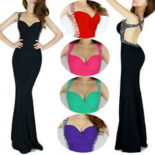 ~2015 CHEAP! Sexy Mermaid SLIM FIT Evening Party Gown Bridesmaid Long Prom Dress