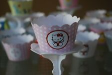 12 Girls Bday Party Hello Kitty Cupcake Wrappers - AUSSIE-WIDE FREE SHIPPING