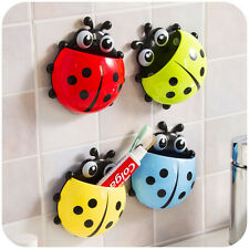 Best Cute Pocket Bathroom Toothbrush Stuff Ladybug Wall Suction Holder US JB