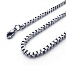 2 MM Box Chain Necklace - Stainless Steel 316L - BenJunot USA Original