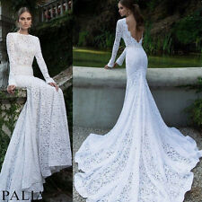 Wedding Lace Maxi Dress Formal Evening Cocktail Long Prom Ball Gown Dresses