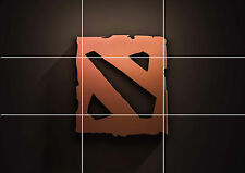 DOTA 2 GAME HUGE MOSAIC POSTER 35 INCH x 25 INCH