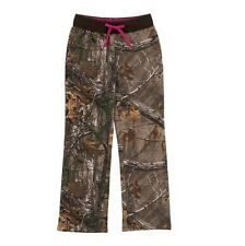 REALTREE XTRA CAMO CAMOUFLAGE & PINK WOMEN'S LADIES SWEAT LOUNGE PANTS SM OR MED