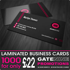 1000 BUSINESS CARDS - 400GSM PREMIUM SILK ARTBOARD - GLOSS OR MATT LAMINATION