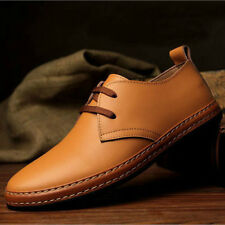 New European Style Mens Genuine Leather Flat Lace Up Oxfords Casual Dress Shoes