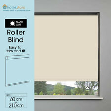 BLACKOUT THERMAL ROLLER BLINDS - STRAIGHT EDGE - EASILY TRIMABLE & CHILD SAFE