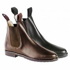 Mens Jodhpur Boots - Hanover Loveson Leather Comfort Boot - Size 9 in Brown