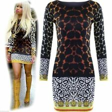 LADIES CELEBRITY INSPIRED LEOPARD PRINT WOMENS BODYCON SHORT MINI PARTY DRESS