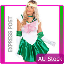Sailor Moon Venus Costume Cosplay Uniform Fancy Dress Up Fantasy Outfit & Gloves