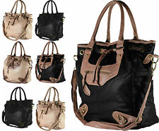 New Womens Designer Leather Style Celebrity Shoulder Satchel Tote Handbag Bag