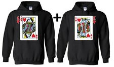 Couple Hoodie Player Cards King Queen Valentines Day Gift For him Hooded sweater