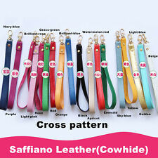 Replacement Genuine Leather Wrist Strap For Clutch/Wristlet/Purse/Pouch 13Colors