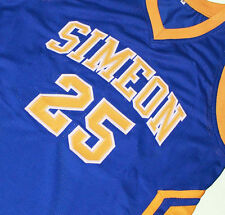 DERRICK ROSE #25 SIMEON HIGH SCHOOL BASKETBALL JERSEY BLUE SEWN NEW ANY SIZE