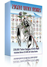 100,000 to 230,00 Flash Tattoo Designs on DVD + 28 Free Tattoo Books PC Laptop