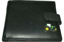 John Deere Tractor Wallets.Leather NEW - Black/Dark Brown/Chestnut. Gift Idea!