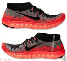746a0d96e59cd NIKE FREE FLYKNIT 3.0 MEN s RUNNING M MESH RED- BLACK -GREY NEW IN BOX