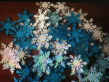 50 FROZEN white blue card XMAS LARGE party snowflakes confetti table decoration