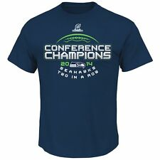 """Seattle Seahawks Majestic 2014 NFC Conference Champions """"Choice"""" S/S T-Shirt"""