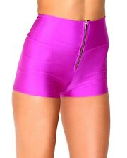 iHeartRaves Zipper High Waisted Rave Festival Dance Shorts