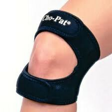 CHO-PAT Dual Action Knee Strap Black Knee Brace All Sizes