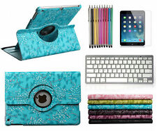 "iPad Air 2 Pro 9.7"" 4 3 2 MINI 360° Rotate Leather Case Cover+Bluetooth Keyboard"