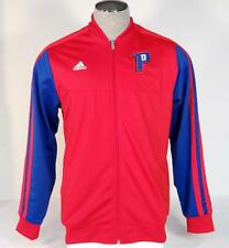 Adidas Performance Red Detroit Pistons NBA Zip Front Track Jacket Mens NWT