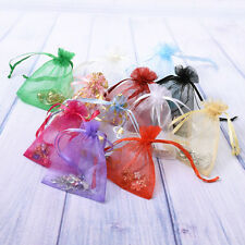 100 PCS ORGANZA WEDDING FAVOUR CANDY CHRISTMAS GIFT BAGS JEWELRY POUCHES 11X16CM