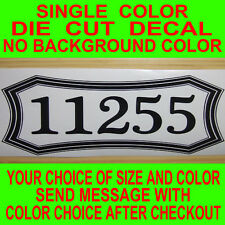 Customized Mailbox Address decals,also for house doors, 2 one for each side