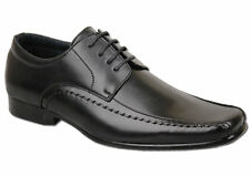 Mens Brand New Black Leather Lined Lace Up Fashion Shoes Size 6 7 8 9 10 11 12