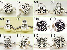 925 Sterling Silver Loves Bead fit European Bead Charms Bracelets