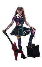 CHILD GIRLS ZOMBIE ROCKER SCARY FANCY DRESS HALLOWEEN PUNK COSTUME
