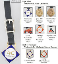 Allis Chalmers tractor fobs, various designs & leather strap options