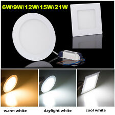 Dimmable Bombilla LED Ceiling Recessed Panel Down Light+Driver 6W 9W 12W 15W 21W