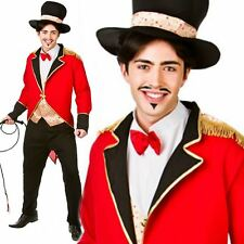 Adult Male Ringmaster Costume Mens Circus Fancy Dress Lion Tamer Outfit New