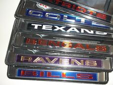 NFL Chrome License Plate Frame, Laser Cut, Car, Truck, Many Teams--FREE Shipping